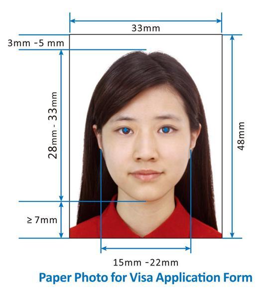 chinese visa photo requirments