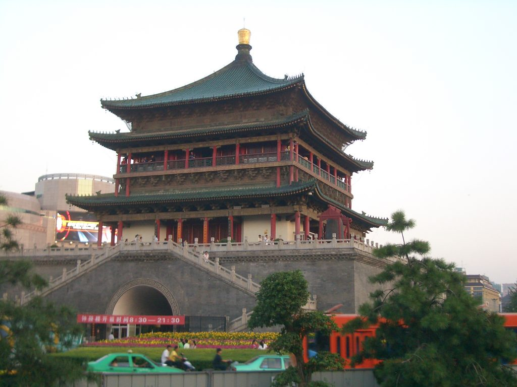 xi'an drum and bell towers